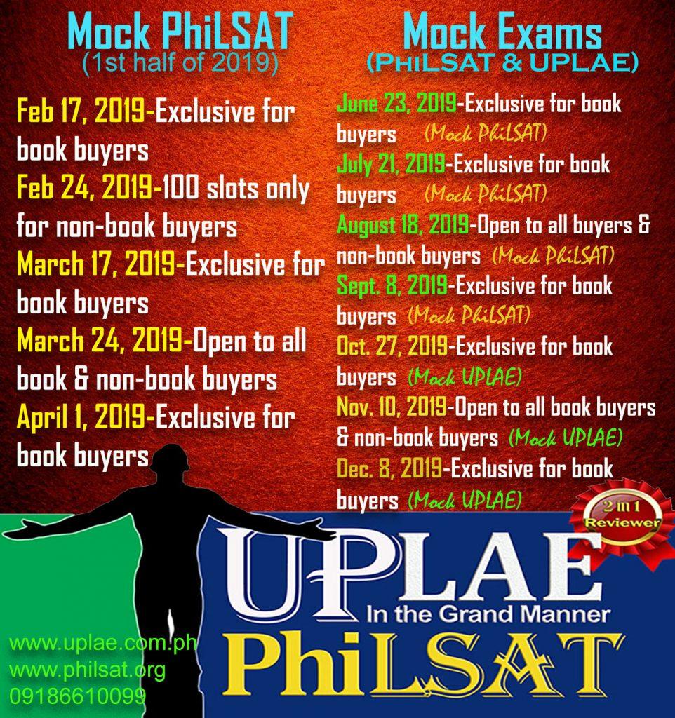Mock UPLAE & PhiLSAT